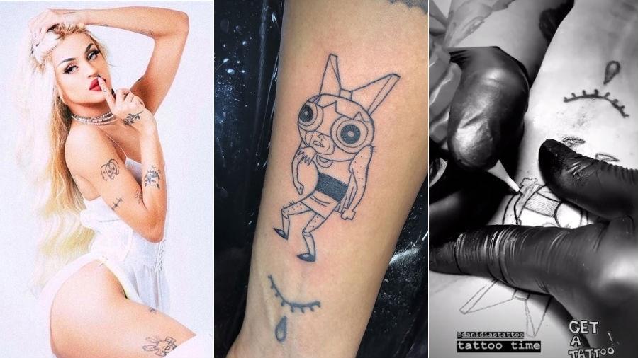 Pabllo Vittar mostra sua nova tatuagem - reprodução/Instagram