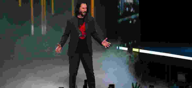 """Ovacionado no palco da E3, Keanu Reeves terá participação importante em """"Cyberpunk 2077"""" - Chistian Petersen/AFP"""