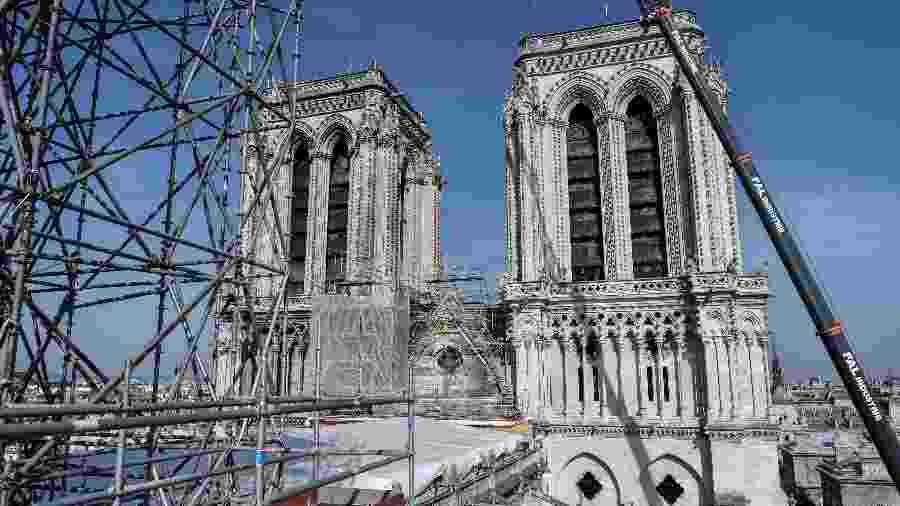 Catedral de Notre-Dame passa por obras - Stephane de Sakutin/Pool/AFP