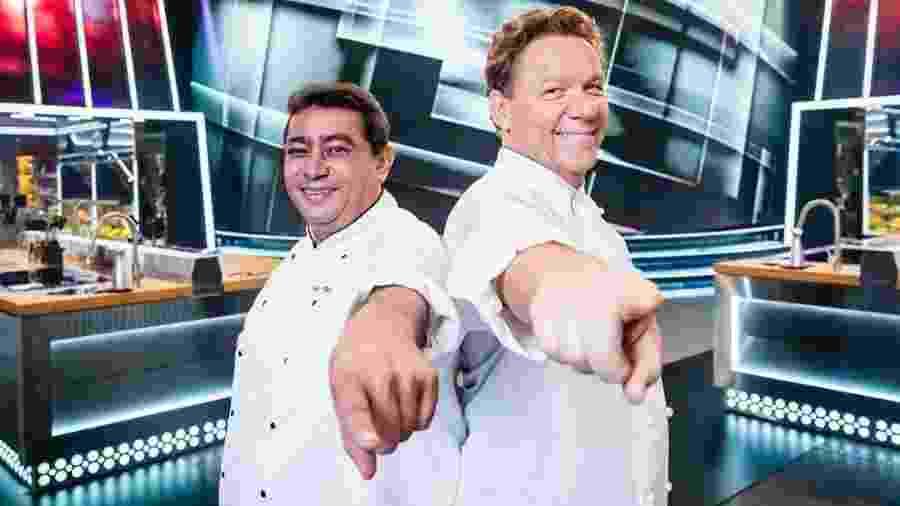 João Batista e Claude Troisgros, chefs do reality Mestre do Sabor - Reprodução/Instagram