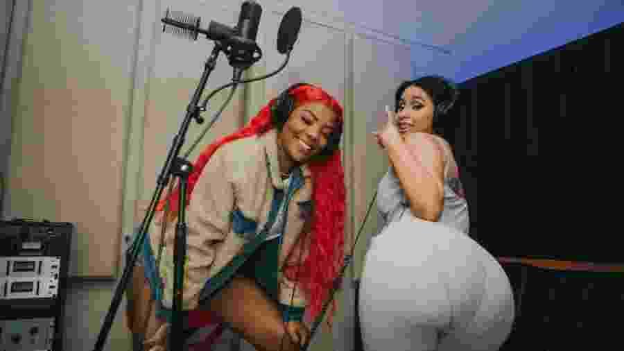 Ludmilla e Cardi B gravam juntas em estúdio de Nova York - Renata Meirelles/Divulgação