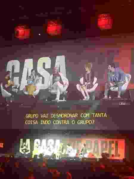 Painel de La Casa de Papel no último dia da CCXP 2019 - Renata Nogueira/UOL