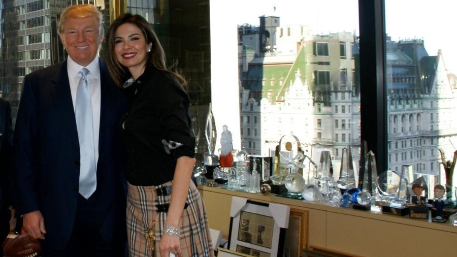 Luciana Gimenez e Donald Trump - Reprodução