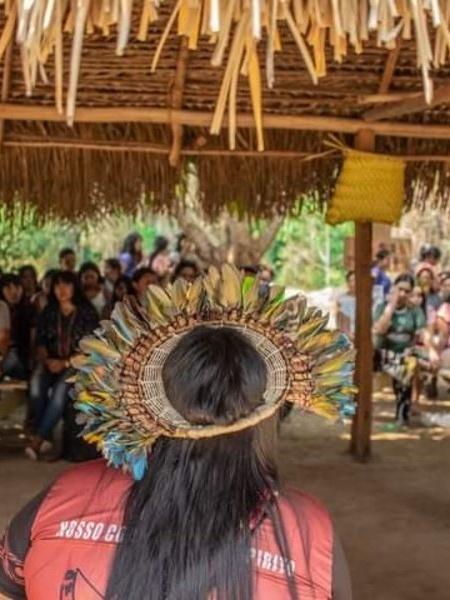 Reunião de integrantes da Associação das Guerreiras Indígenas de Rondônia - Divulgação