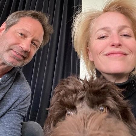 David Duchovny e Gillian Anderson posam juntos - Reprodução/Instagram