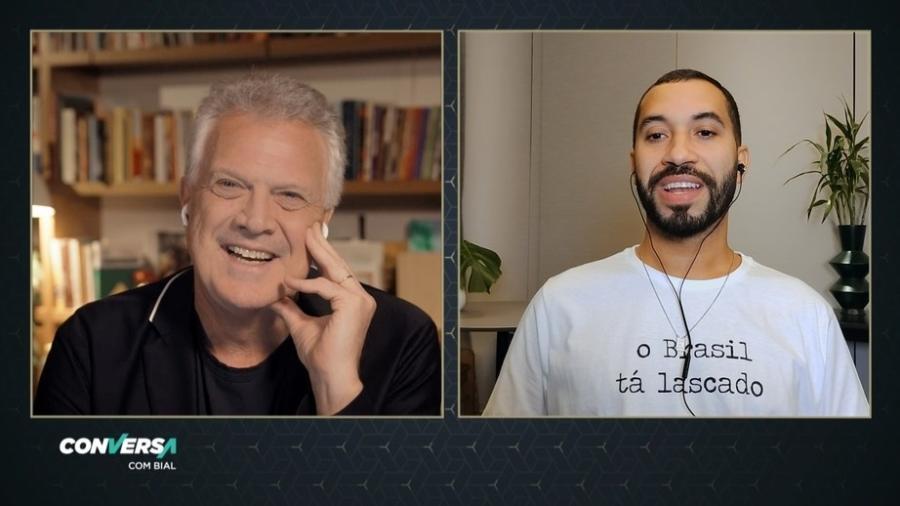 Pedro Bial e Gil do Vigor - Divulgação/TV Globo
