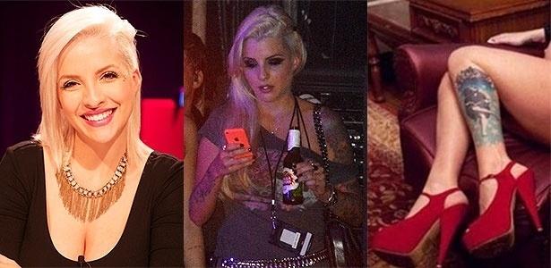 Fã de Guns N' Roses, a ex-BBB e DJ Clara Aguilar já viu shows do backstage e tem a capa de um dos discos da banda tatuada na perna