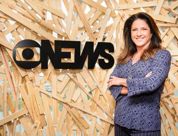 """16.fev.2016 - Christiane Pelajo apresenta seu novo programa, o """"Jornal da GloboNews Edição das 16h"""" - Ramon Vasconcelos/Rede Globo"""