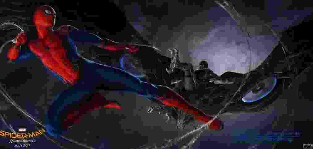 """Arte conceitual de """"Spider-Man: Homecoming"""", divulgado no Twitter do filme - Reprodução"""