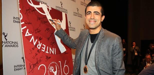 """Marcius Melhem, redator final do """"Zorra"""", em evento do Emmy Internacional - Luiz C. Ribeiro/Divulgação/TV Globo"""