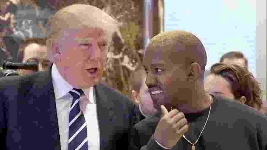 13.dez.2016 - Donald Trump recebe Kanye West em Nova York - AFP