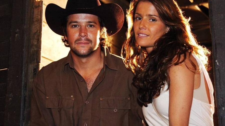 """Tião (Murilo Benício) e Sol (Deborah Secco) formaram um casal na novela """"América"""" - TV Globo/Divulgação"""