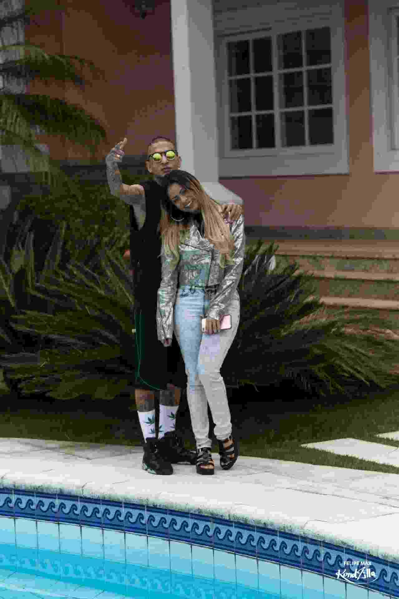 Mc Guimê leva a namorada Lexa para gravação de videoclipe - Divulgação