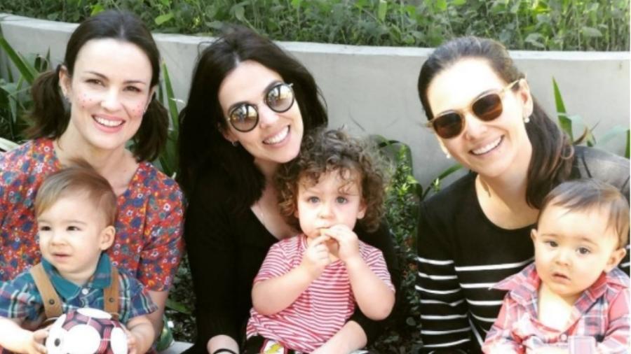 Carolina Kasting e Cora, Karen Brusttolin e Noa, Tainá Müller com Martin - Reprodução/Instagram/kastingcarolina