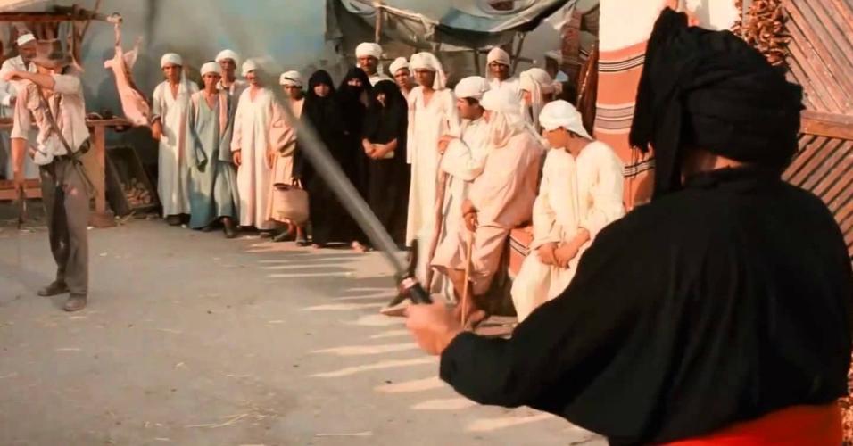"Cena de ""Indiana Jones e Os Caçadores da Arca Perdida"" (1981), de Steven Spielberg"