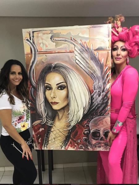 Viviane Araújo ganha quadro de Paulette Pink - Reprodução/Instagram/araujovivivanne