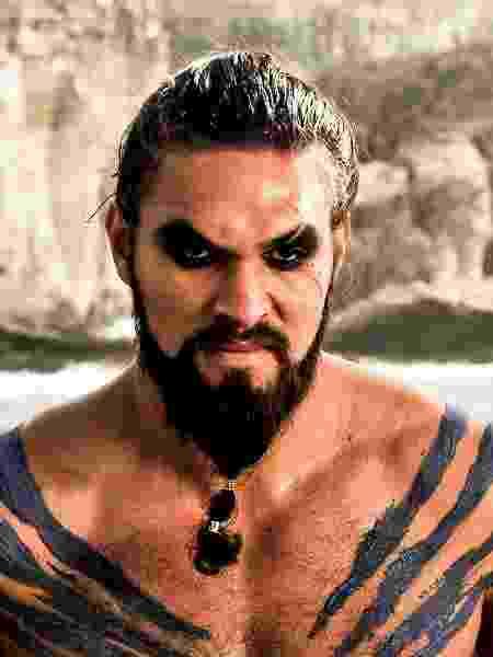 """O ator Jason Momoa como Khal Drogo em """"Game of Thrones"""" - Reprodução"""