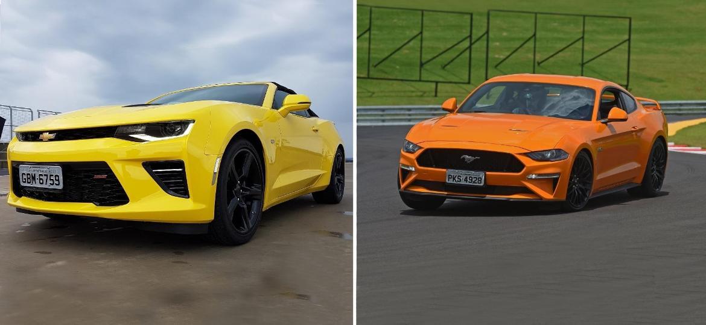 Camaro e Mustang - UOL Carros