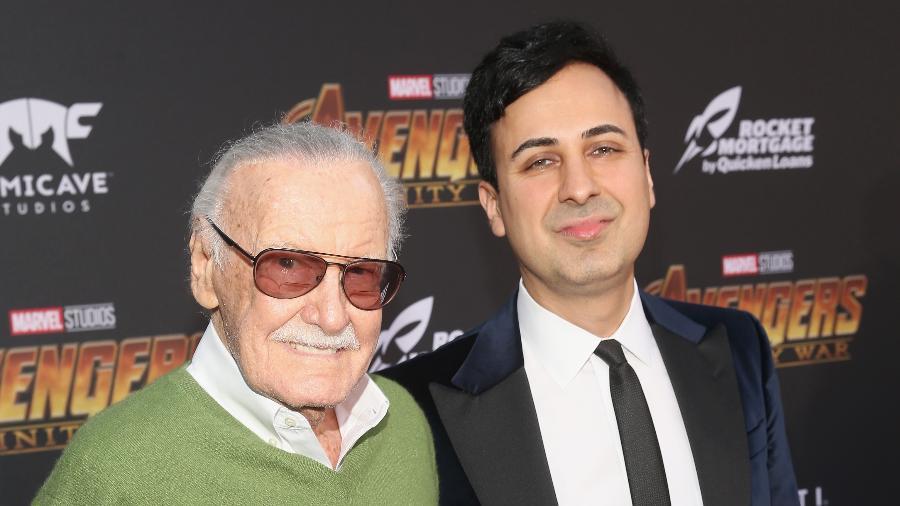 Stan Lee e Keya Morgan em foto de abril deste ano - Jesse Grant/Getty Images
