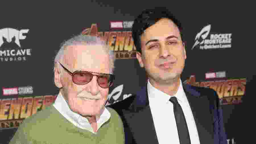 Stan Lee e Keya Morgan em foto de abril deste ano - Jesse Grant/Getty Images