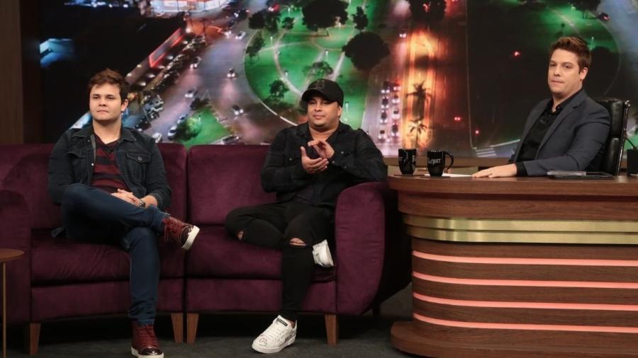 "Matheus e Kauan no ""Programa do Porchat"" - Antonio Chahestian/Record TV"