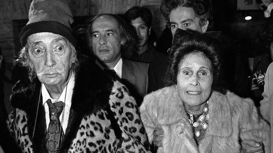 Salvador Dalí e a mulher Gala Dalí - AFP/Daniel Janin