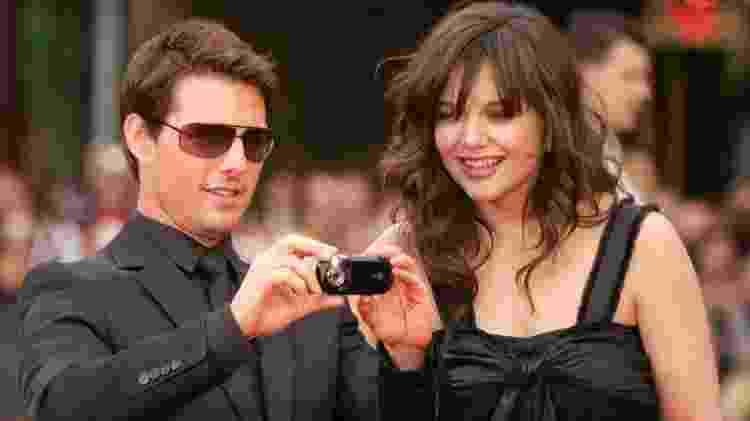 Tom Cruise e Katie Holmes em maio de 2006: Casal virou alvo dos tabloides - Frazer Harrison/Getty Images - Frazer Harrison/Getty Images