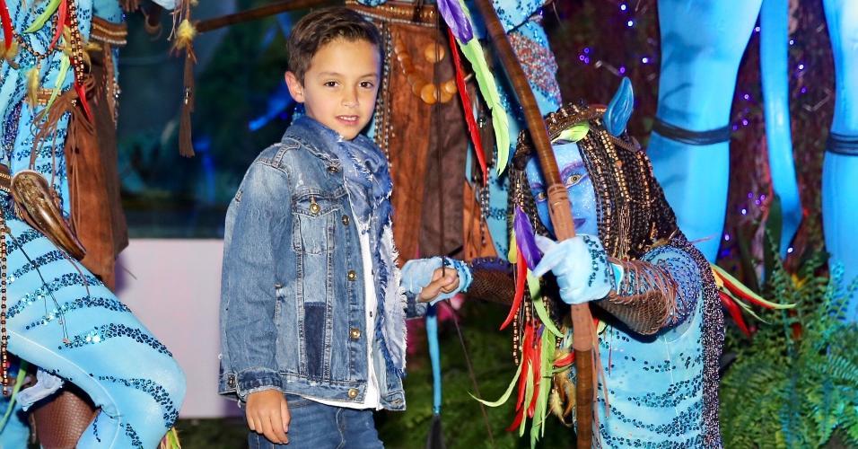 Primogênito de Eliana, Artur comemora o aniversário de 7 anos em São Paulo