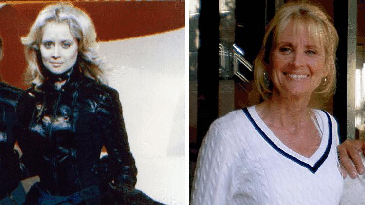 """Antes e depois de Laurette Spang, a Cassiopeia de """"Battlestar Galactica"""" - Reprodução/Montagem - Reprodução/Montagem"""