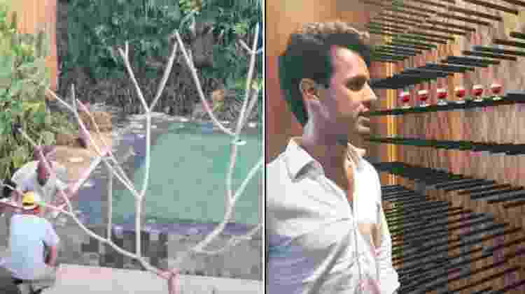 Marina Ruy Barbosa mostra a piscina e o marido, Xandinho Negrão, na adega - Reprodução/Instagram - Reprodução/Instagram