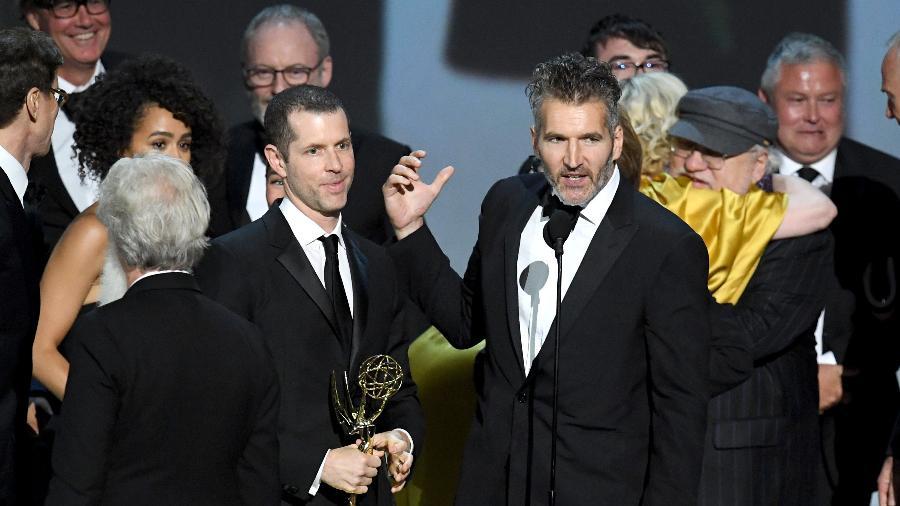 """Equipe de """"Game of Thrones"""" recebe o Emmy de melhor série dramática - Kevin Winter/Getty Images"""