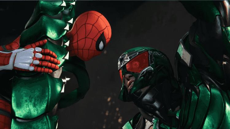"""Homem-Aranha enfrenta o Escorpião no game """"Spider-Man"""", para o PlayStation 4 - Reprodução"""
