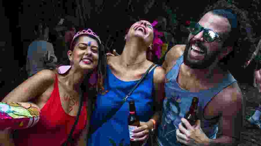 Foliões se divertem na festa Pilantragi - João Castellano/UOL
