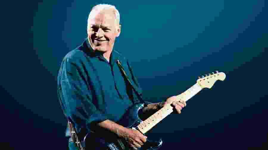 David Gilmour com sua famosa Fender Stratocaster - Divulgação