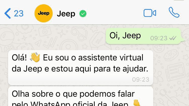 Jeep e Fiat lançaram recentemente canal com assistente virtual para tirar dúvidas dos proprietários - Divulgação