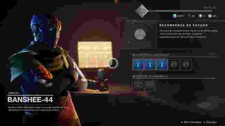 Destiny 2 Banshee - Reprodução - Reprodução