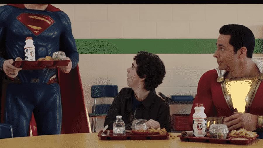 A aparição do Superman em Shazam! - Reprodução/YouTube