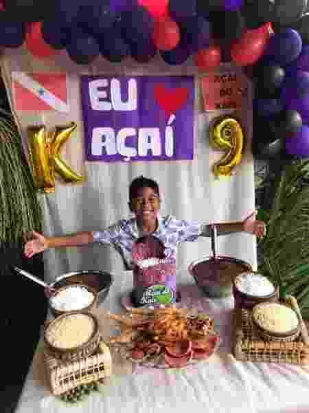 Kaio Luan e sua festa temática com açaí e comidas paraenses - Arquivo pessoal