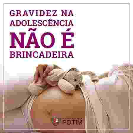 Campanha gravidez na adolescência - Divulgação - Divulgação