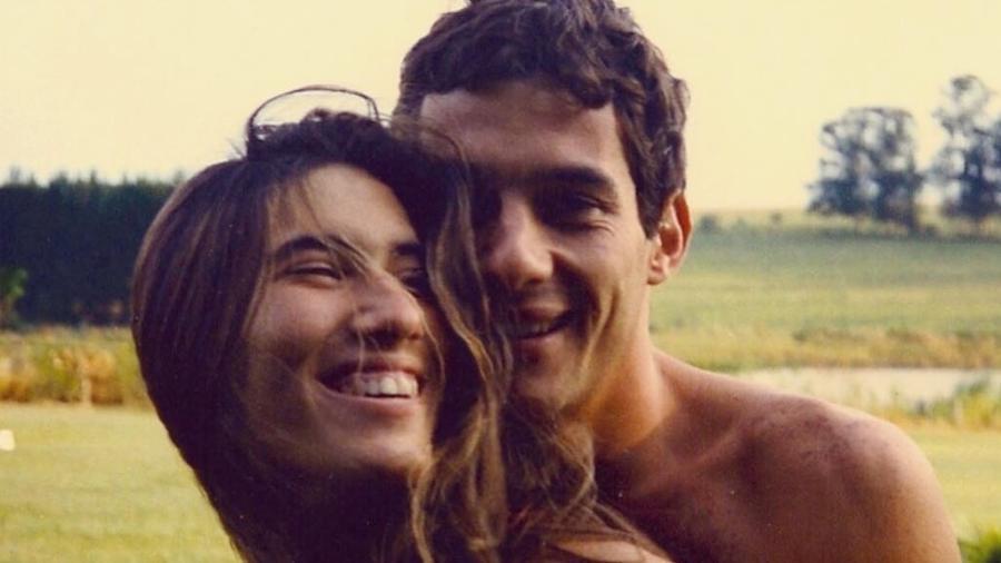 """Adriane Yamin e Ayrton Senna; o relacionamento do casal é o tema da biografia """"Minha Garota"""" - Reprodução/Instagram"""