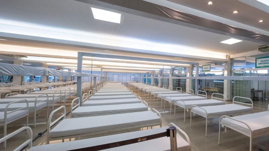 Fiat Clube (MG) se transforma em hospital de campanha  - Léo Lara