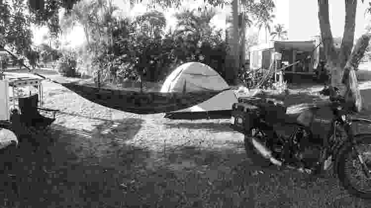 Acampamento em que Toco Lenzi está se hospedando na cidade de Darwin, na Austrália - Arquivo Pessoal