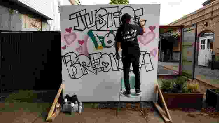 grafite Justiça para Breonna Taylor - Brett Carlsen/Getty Images - Brett Carlsen/Getty Images