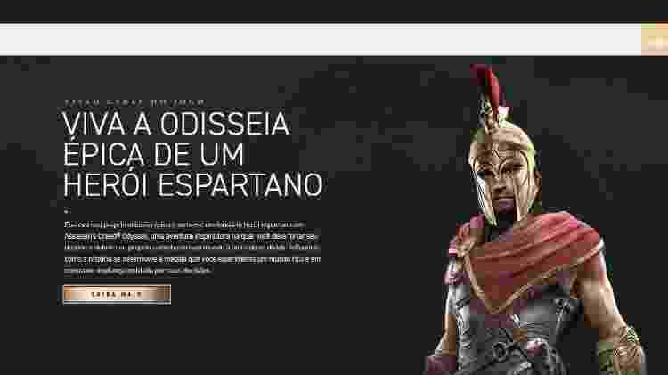 Assassin's creed odyssey site - Reprodução - Reprodução