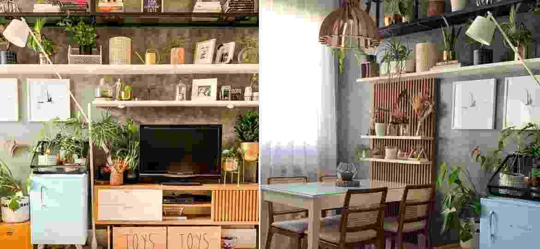 Espaços do apartamanto: profusão de plantas e ideias criativas - Arquivo Pessoal