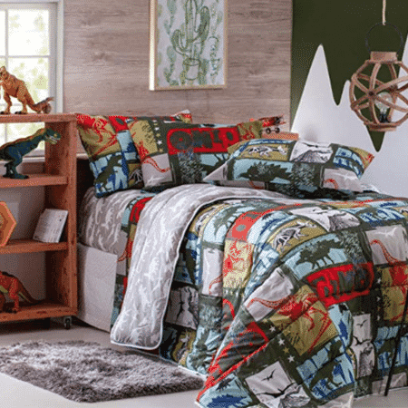 Jogo de cama de dinossauros - Divulgação - Divulgação