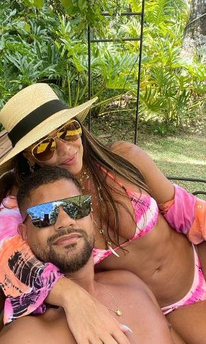 Viviane Araújo e Guilherme Militão, seu noivo