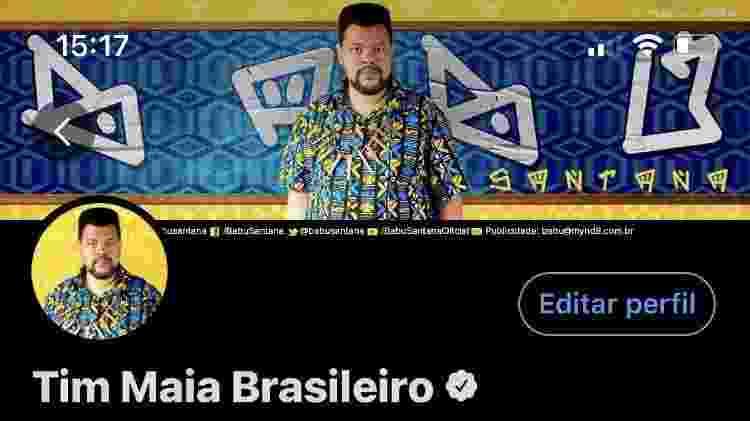 """Babu Santana comprou a brincadeira e se assumiu o """"Tim Maia brasileiro"""" nas redes - Reprodução/Instagram - Reprodução/Instagram"""