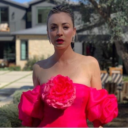 Kaley Cuoco produzida para o SAG Awards - Reprodução / Instagram