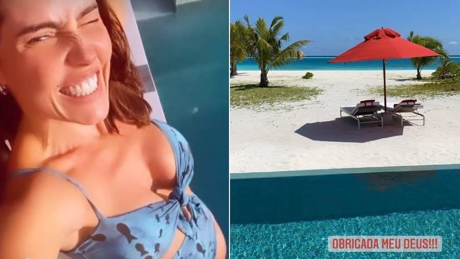 Deborah Secco curte as Maldivas com o marido e a filha - Reprodução/Instagram